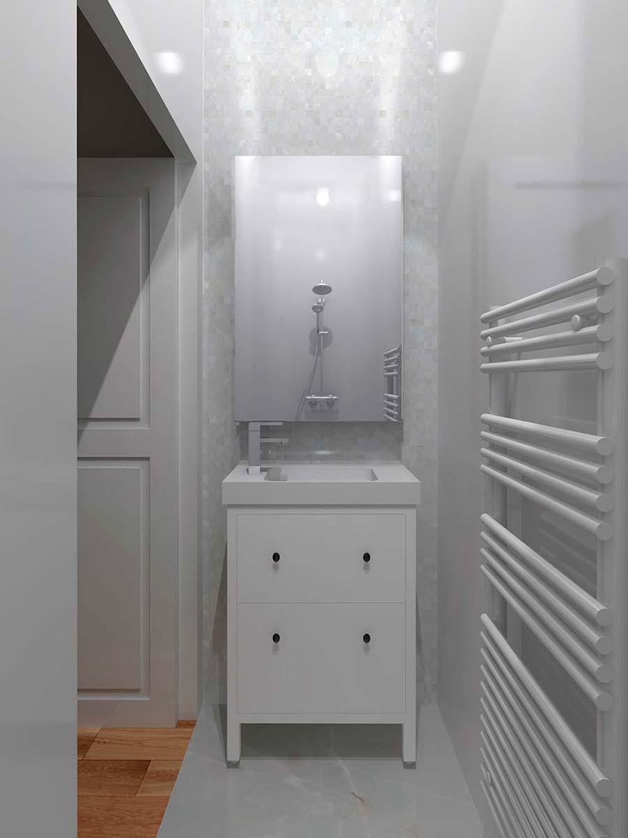Vue format portrait salle de bain