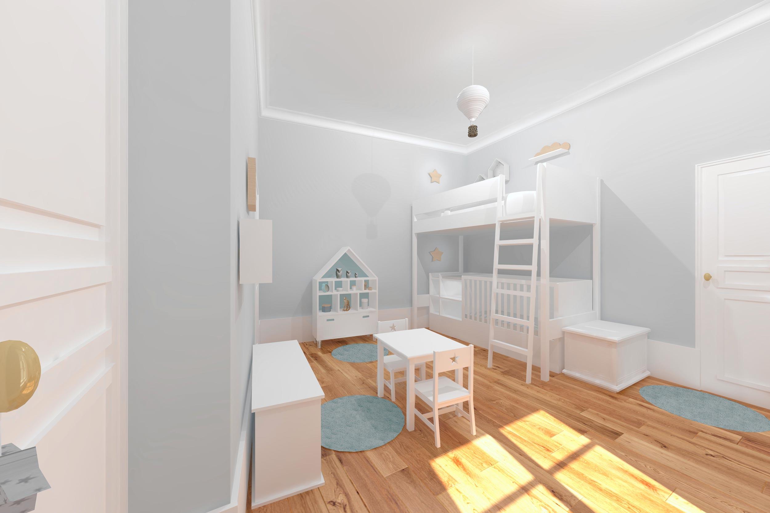 Rénovation appartement à Blois - chambre garçon 2